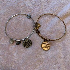 Alex and Ani Texas A&M Bracelets